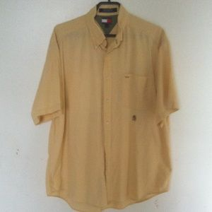 TOMMY HILFIGER Men Lg Yellow Button Down S…
